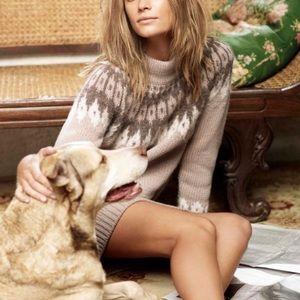 Max Mara Weekend Knit Sweater Dress Fair Isle M